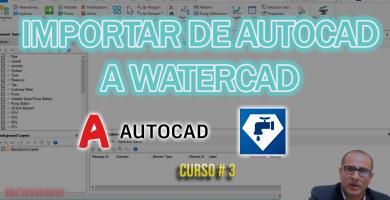 Importar de autocad a watercad